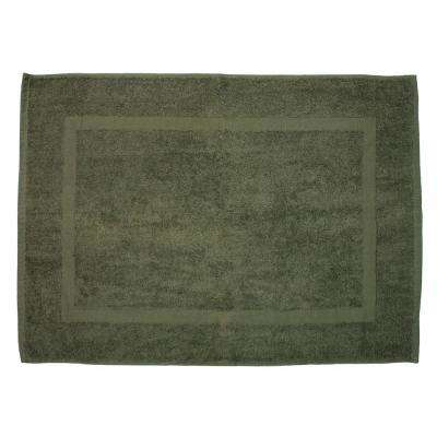 20 in. x 30 in. Olive Green Provence Bath Mat