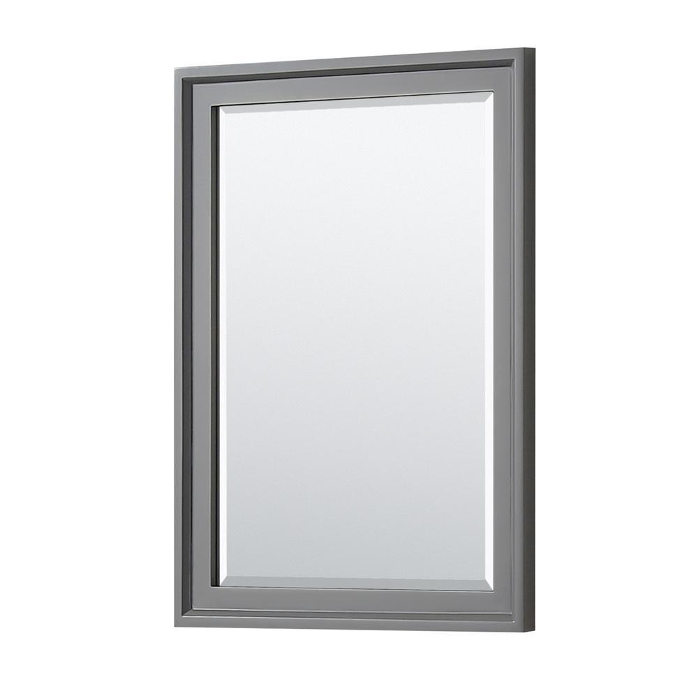 Tamara 24 in. W x 33 in. H Framed Wall Mirror in Dark Gray