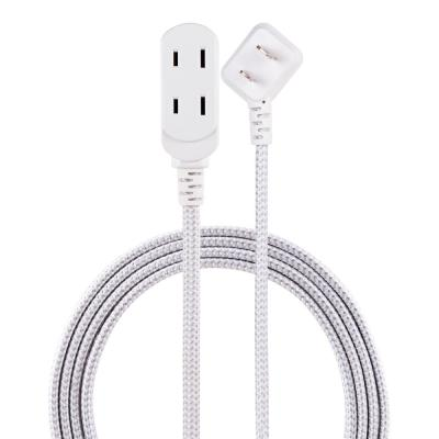 3-Outlet Polarized Power Strip with 15 ft. Braided Cord, Gray