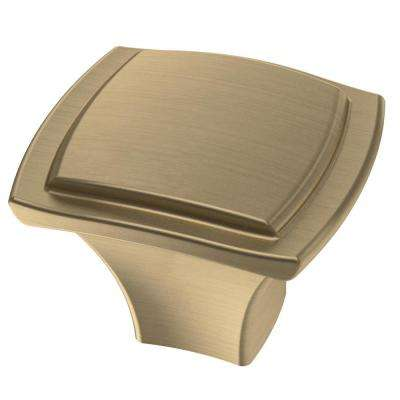 Step Edge 1-1/4 in. (32 mm) Champagne Bronze Cabinet Knob (10-Pack)