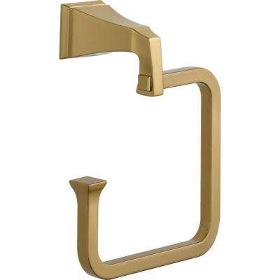 Dryden Open Towel Ring in Champagne Bronze