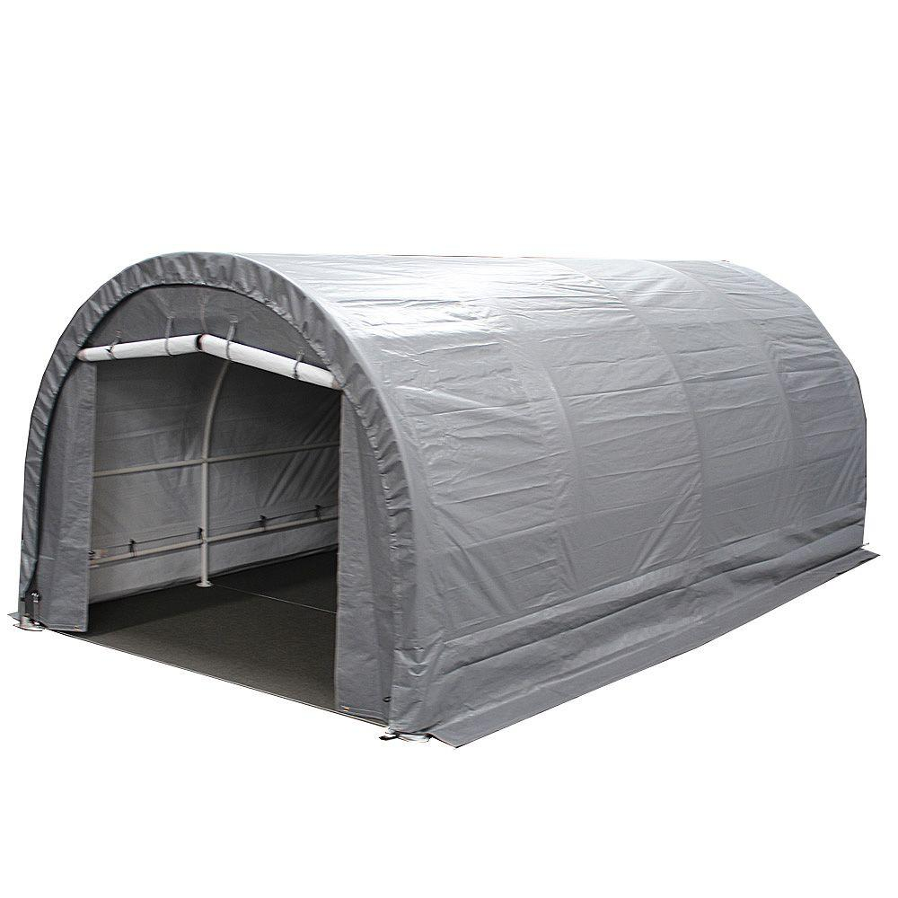 King Canopy 10 Ft W X 20 Ft D Dome Storage Garage G10208 The Home Depot
