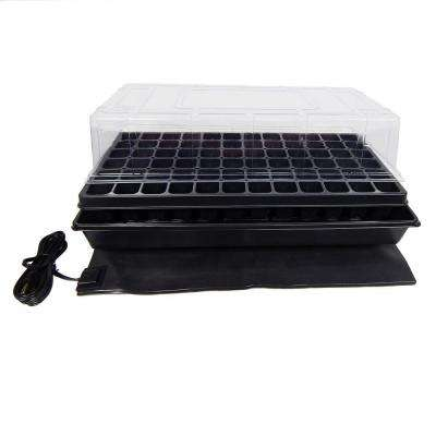 11 in. x 22 in. Short Clear Plastic Dome Single Tray Kit with Standard Flat