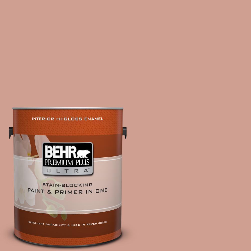 1 gal. #S180-4 Shiny Kettle Hi-Gloss Enamel Interior Paint