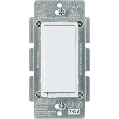 Z-Wave 960-Watt CFL-LED Indoor In-Wall On/Off Rocker Switch, Almond/White Paddles