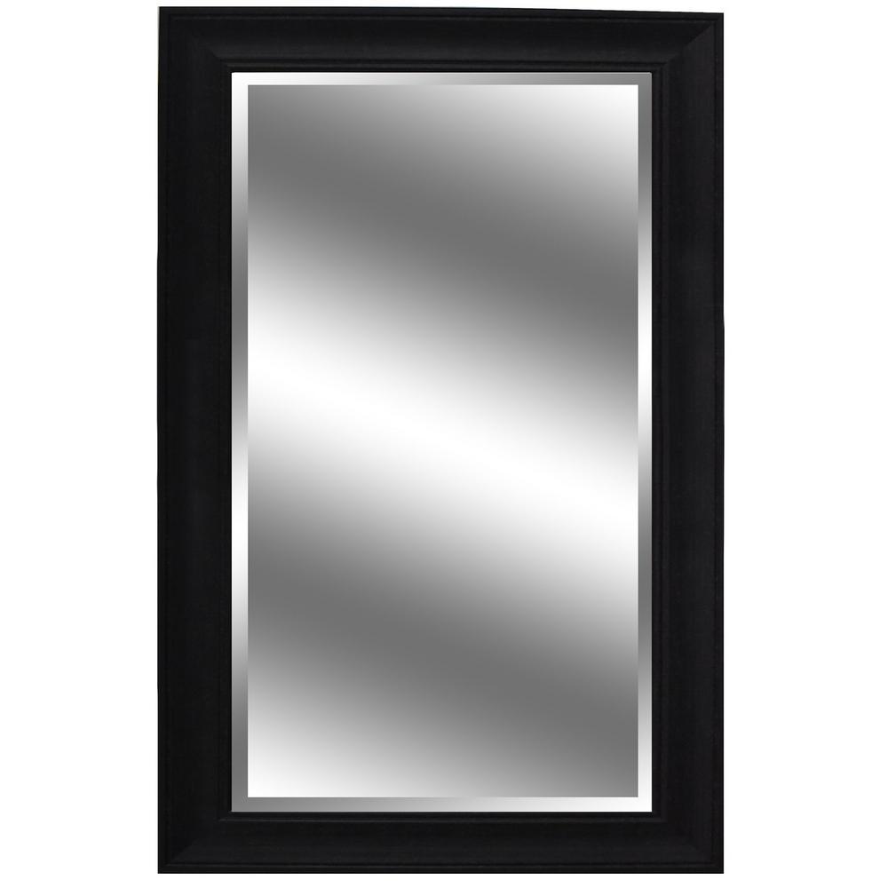 Y Decor 37 in. x 60 in. Dark Espresso Woodgrain Resin Framed Mirror ...