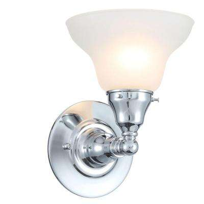 Asten Collection 1-Light Chrome Wall Sconce