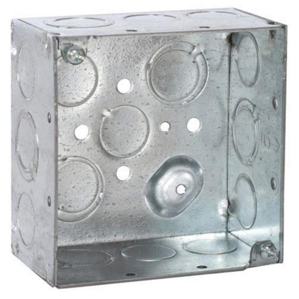 4 in. Raised Ground Welded Square Electrical Box