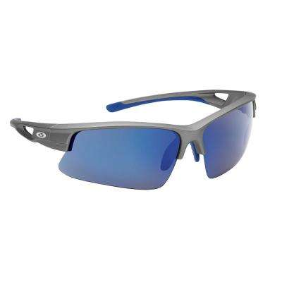 Moray Polarized Sunglasses Matte Black Gray Frame with Smoke Blue Mirror Lens