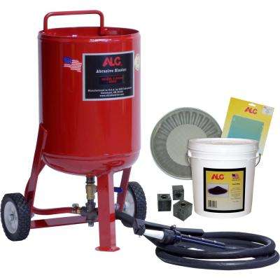 65 lbs  Portable Pressure Abrasive Blaster with Starter Kit