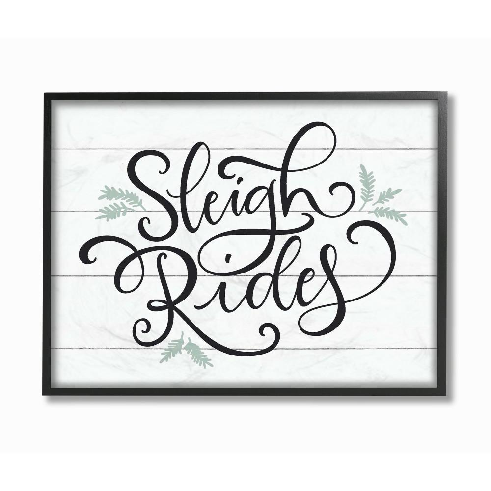 "11 in. x 14 in. ""Holiday Sleigh Rides Black White and"
