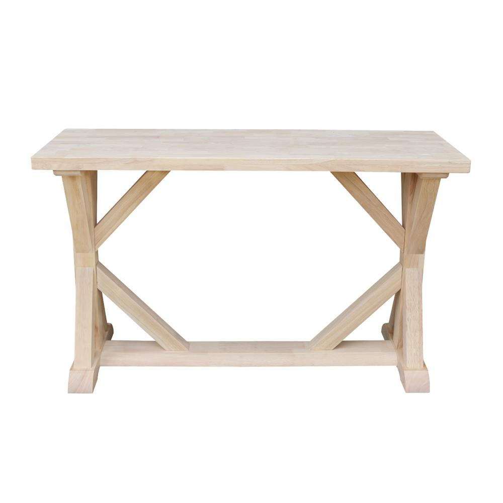 International Concepts Farmhouse Unfinished Console Table