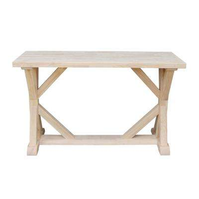 Farmhouse Unfinished Console Table