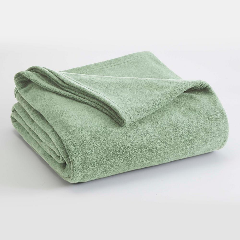 Microfleece Desert Sage Polyester Twin Blanket