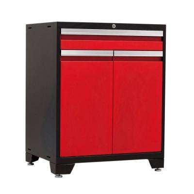 Pro 3 Series 37 in. H x 28 in. W x 22 in. D 18-Gauge Welded Steel Multifunction Cabinet in Red
