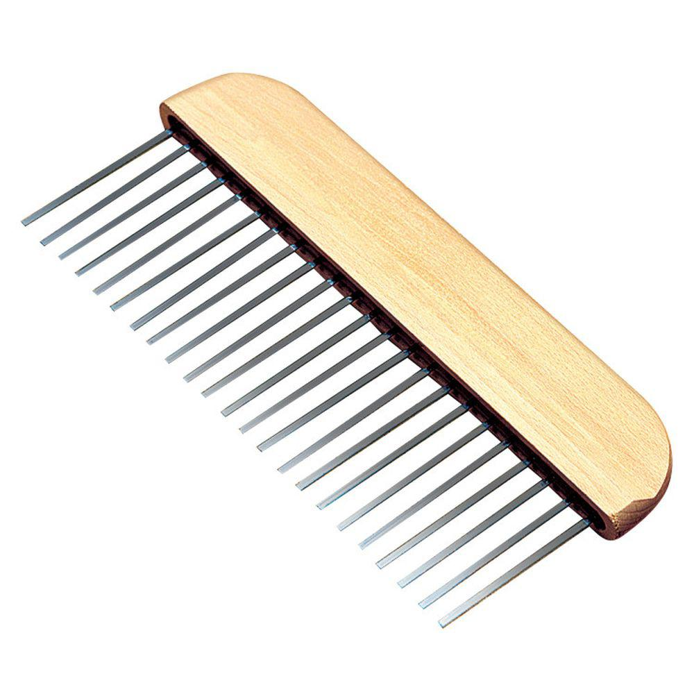 36 in. Metal Concrete Flat Wire Broom-Aluminum Block