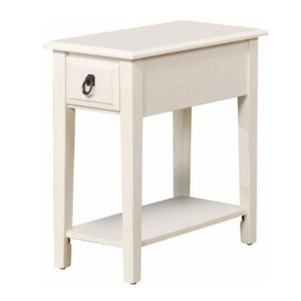 23 in.Smart Looking White Side Table