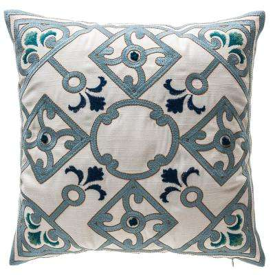 New Zanzibar Neutral Square Outdoor Throw Pillow