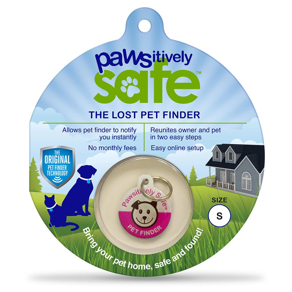 Small Pink Lost Pet Finder Tag for Dogs