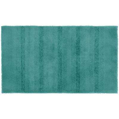 Essence Sea Foam 24 in. x 40 in. Washable Bathroom Accent Rug