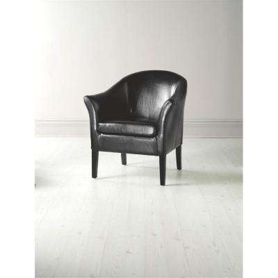 Monte Carlo Black Recycled Leather Arm Chair