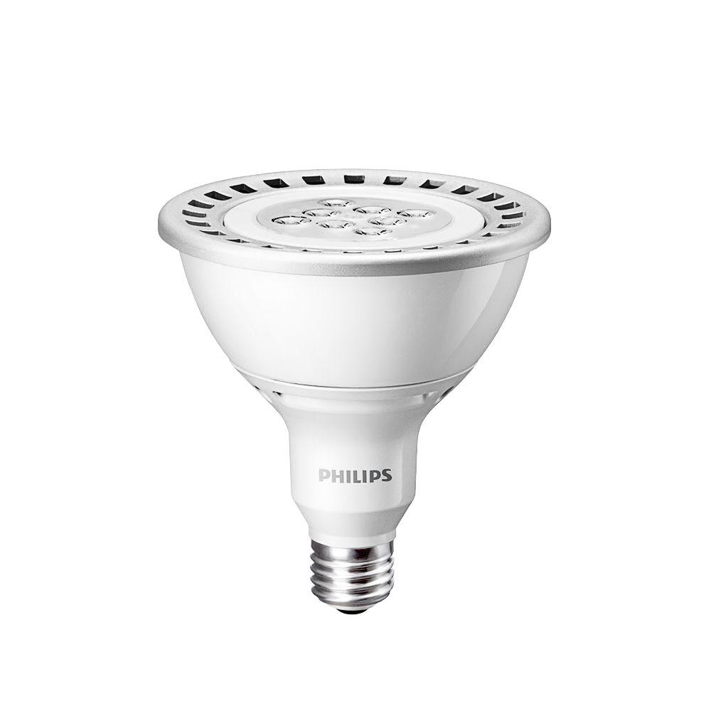 Philips 120W Equivalent Bright White (3000K) PAR38 Dimmable LED Flood Light Bulb (E)* (2-Pack)