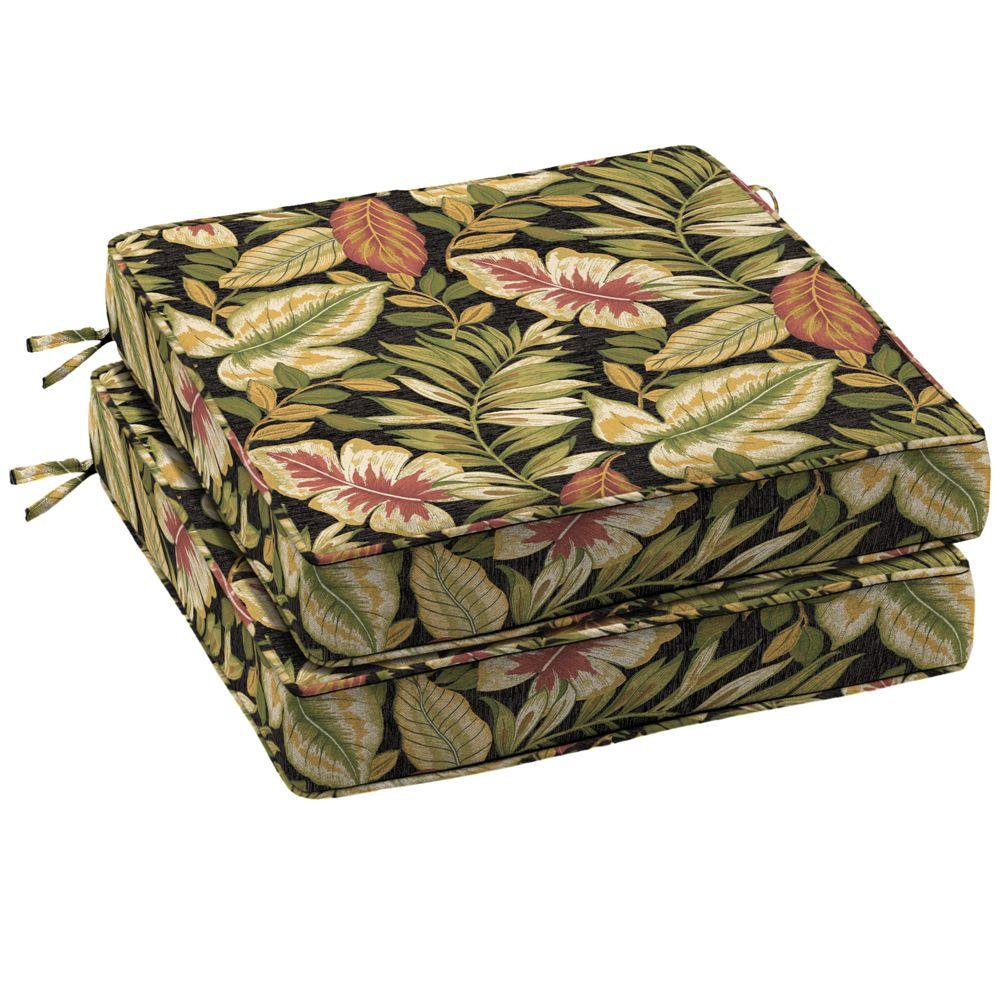 Arden Twilight Tropical Outdoor Seat Cushion (2-Pack)-DISCONTINUED