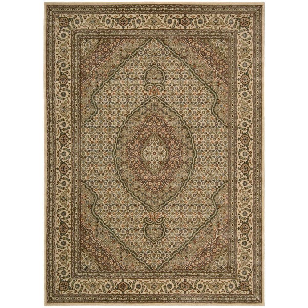 Persian Arts Ivory 7 ft. 9 in. x 10 ft. 10
