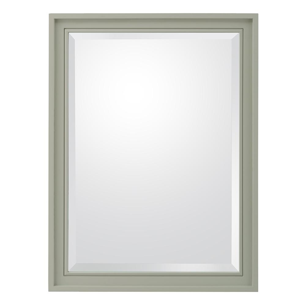 Home Decorators Collection Shaelyn 24 in. W x 32 in. H Framed Wall Mirror in Sage Green