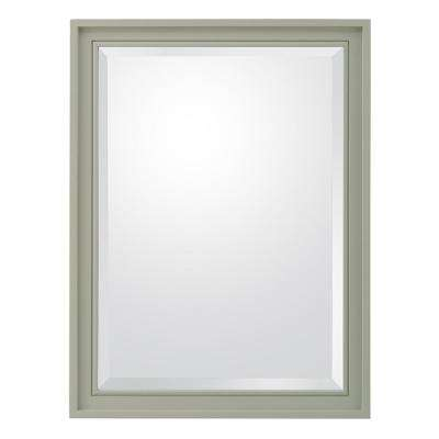 Shaelyn 24 in. W x 32 in. H Framed Wall Mirror in Sage Green