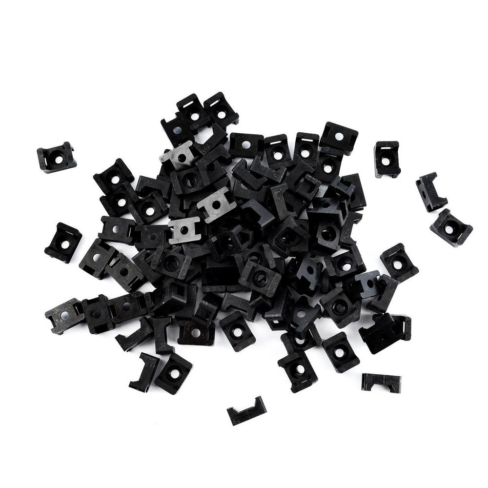 Cable Tie Mounts, (100-Pieces), Black