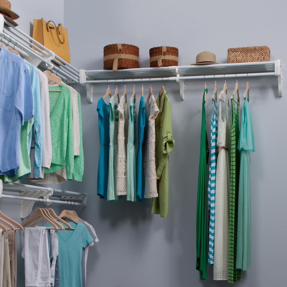 Ez Shelf 18 Ft Steel Closet Organizer Kit With 3