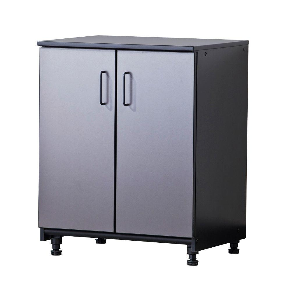Tuff Stor 27 in. W x 34 in. H x 21 in. D Freestanding Thermo-Fused Melamine 2-Door Base Cabinet in Grey