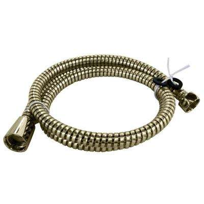 72 in. Plastic Hand Shower Hose and Washers, Polished Brass