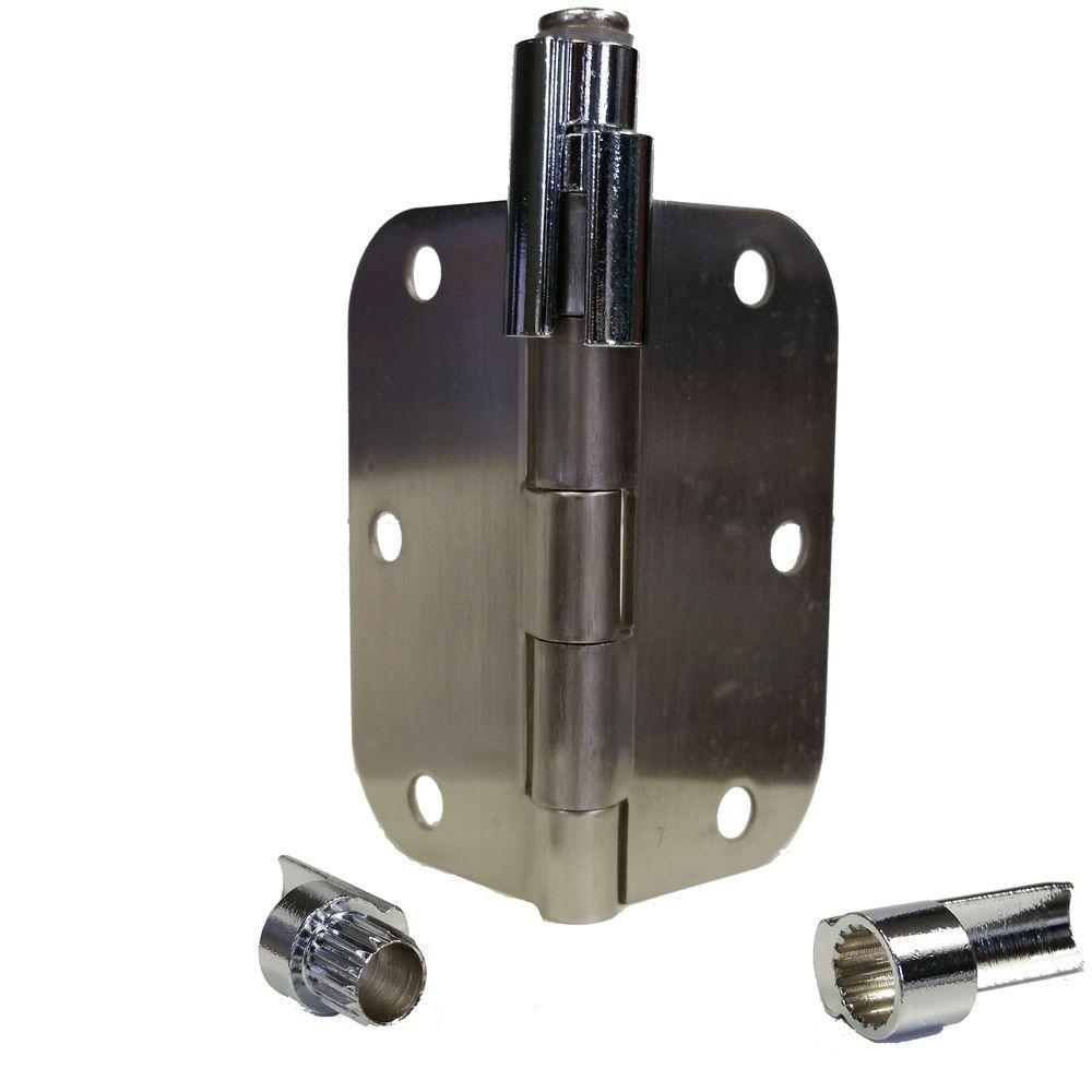 Hinge Mounted Door Stop Adjustable Chrome Door Hinge Pin Bracket