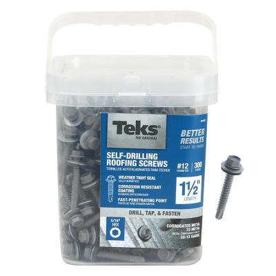 Teks 12 14 X 1 In Hex Washer Head Drill Point Screw 400 Pack 21341 The Home Depot