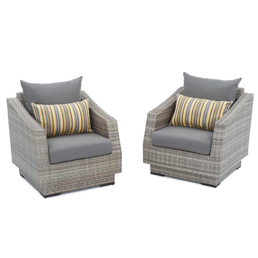 Rst Brands Cannes Patio Club Chair With Charcoal Grey
