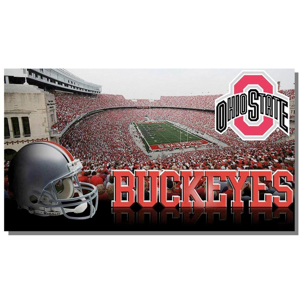 Evergreen Enterprises Sublimated 18 in. x 30 in. Ohio State Door Mat-DISCONTINUED