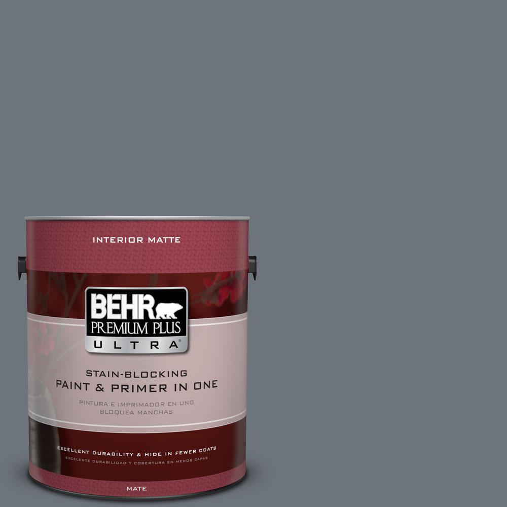 1 gal. #750F-5 Silver Hill Flat/Matte Interior Paint