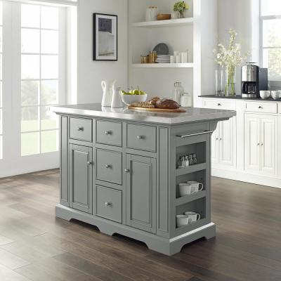 Julia gray Kitchen Island