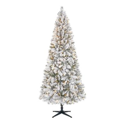 7.5 ft  Wesley Long Needle Pine Flocked Slim LED Pre-Lit Tree with 350 SureBright Warm White Lights