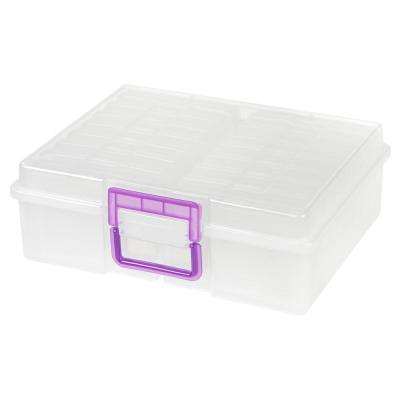 4 in. x 6 in. Extra Large Photo and Craft Keeper, Clear