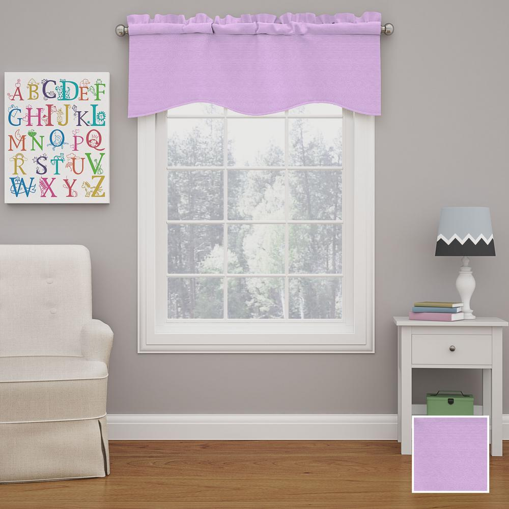 Kendall 18 in. L Polyester Rod Pocket Valance in Light Purple