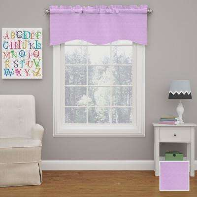 Kendall 18 in. L Polyester Rod Pocket Valance in Light Purple (1-Pack)