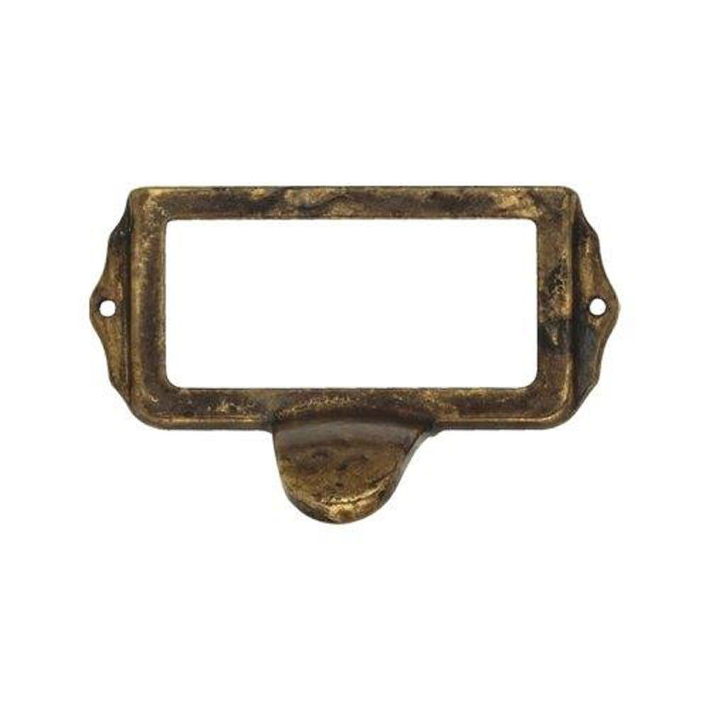 Baroque Series 3.8 in. Antique Brass Distressed Bin Pull