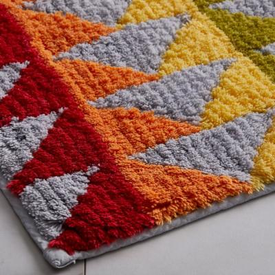 Triangles Corron Geometric Cotton Bath Rug