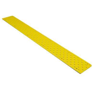 3.75 in. x 48 in. x 0.10 in. Yellow Non Slip Aluminum Tread