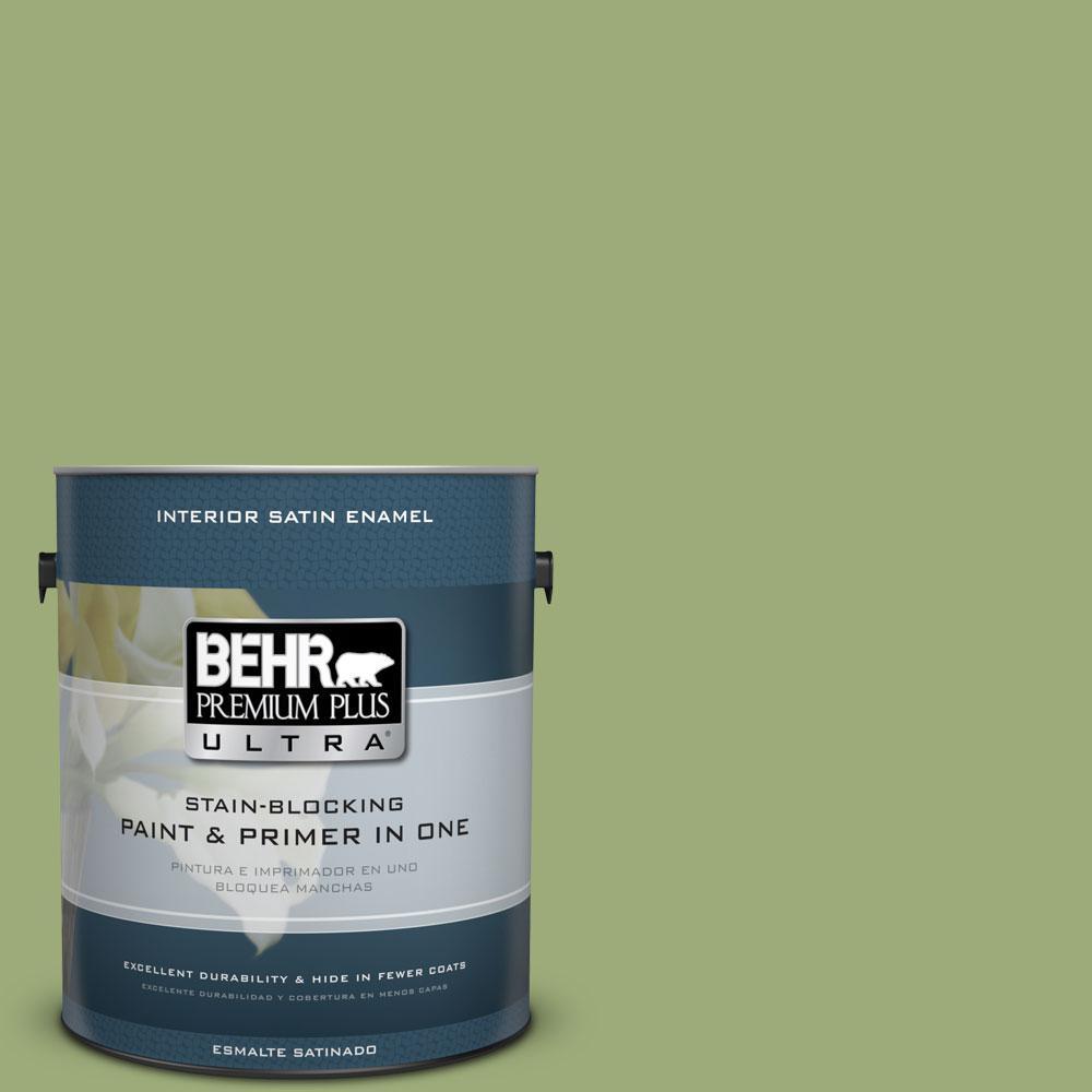 1-gal. #BIC-12 Siamese Green Satin Enamel Interior Paint