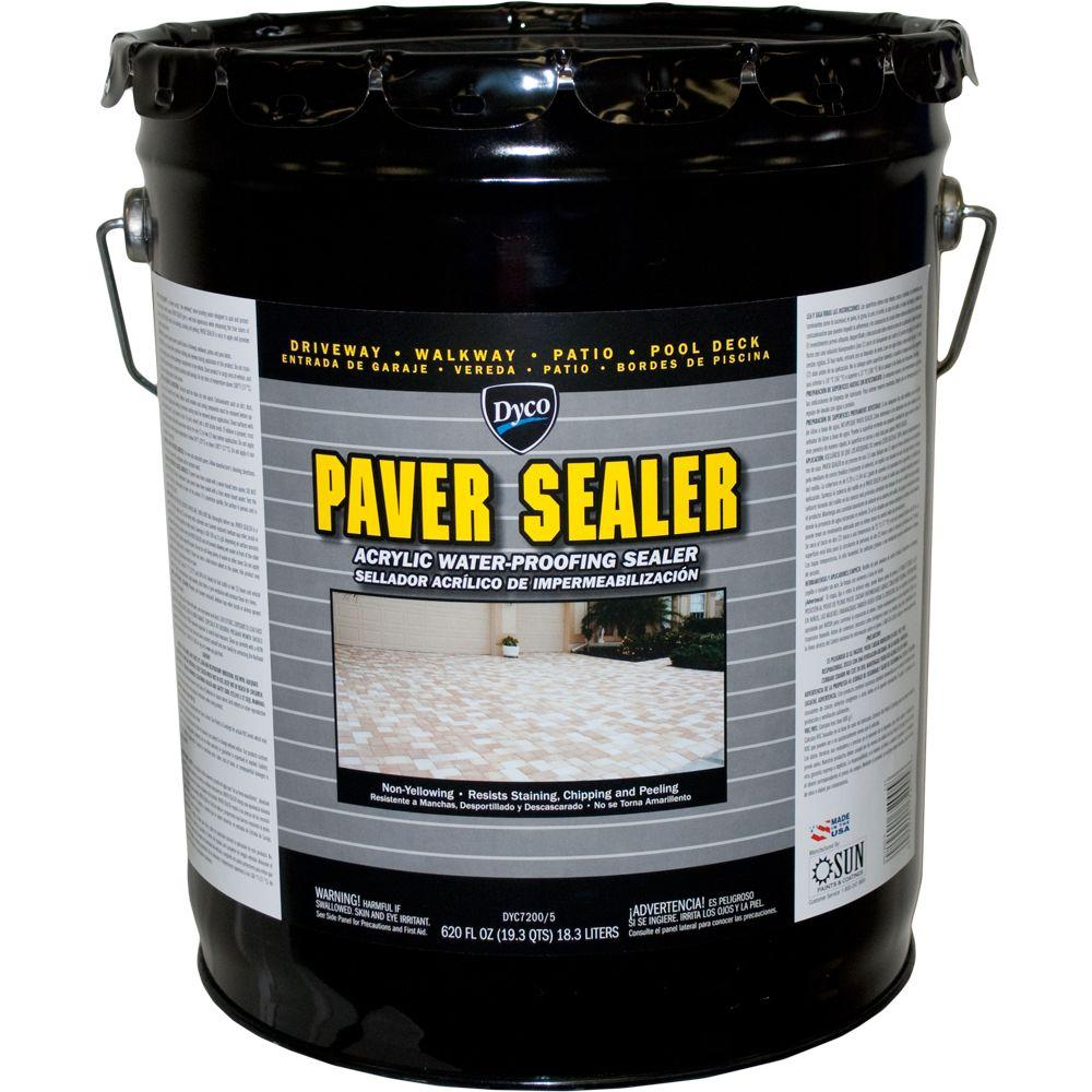 Dyco Paints Paver Sealer 5 Gal. 7200 Clear Gloss Exterior Solvent Acrylic  Sealer