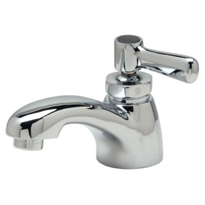 Single Hole Single-Handle Bathroom Faucet With Lever Handle in Chrome